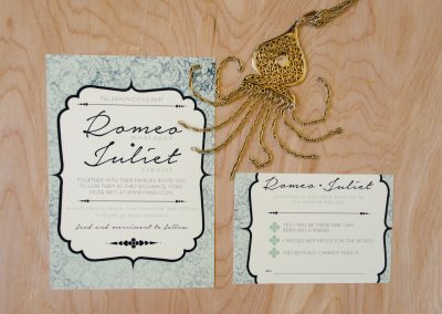Romeo & Juliet Customized Invites