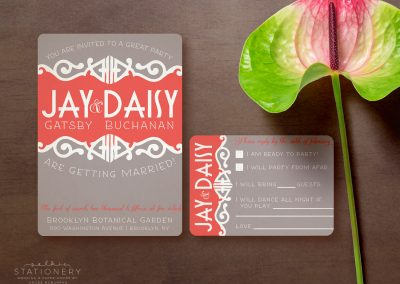 Jay & Daisy Customizable Wedding Invites