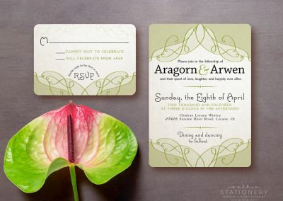 Aragorn & Arwen Customizable Wedding Invite & RSVP