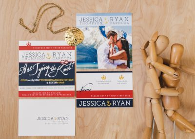 Jessica & Ryan Nautical Themed Wedding Invites & RSVP