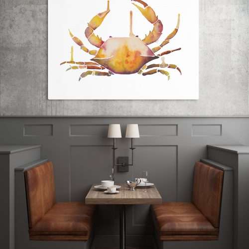 Crab Watercolor at seafood resturant