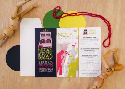 Megan & Brad New Orleans Invites with Information
