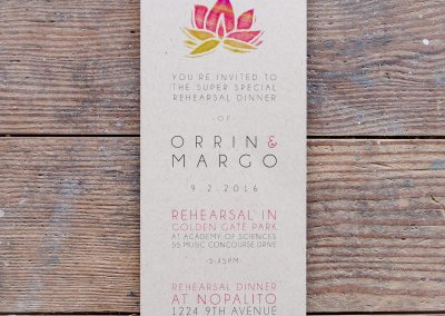 Single Succulent Rehearsal Dinner Invite