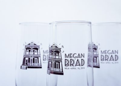 Megan & Brad Wedding Customized Beer Glasses