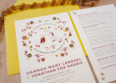 Hannah & Jonathan Wedding Invites Detail
