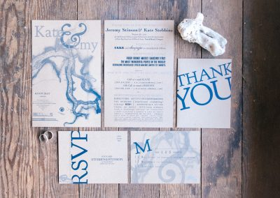 Kate & Jeremy Vintage Oregon Map Wedding Stationery Suite