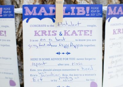 Mad Lib Wedding RSVP