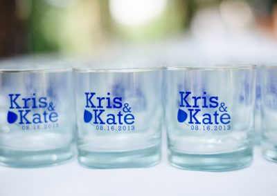 Custom Aspen Wedding Tumblers