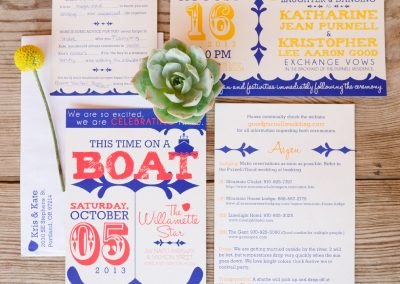 Kris & Kate Vibrant Wedding Stationery Suite