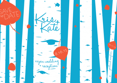 Krist & Kate Save the date Aspen Wedding