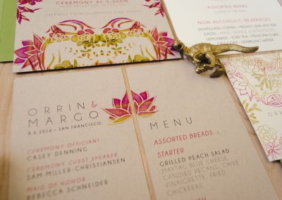 Orrin & Margo Wedding Stationery Suite Detail