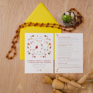 Autumn Spirit Animal Wedding invites