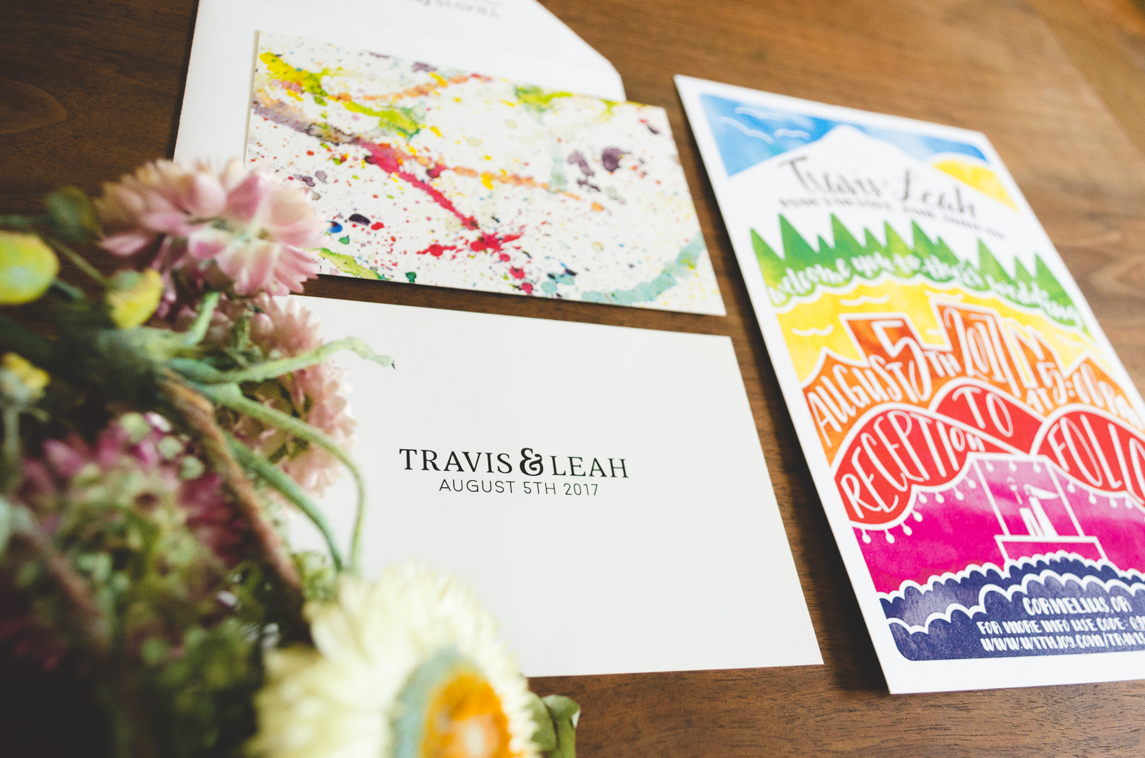 Rainbow Wedding Invites - Selkie Stationery - Portland, OR