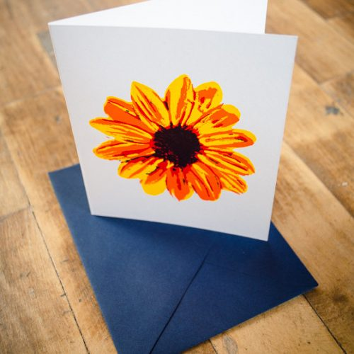 Silkscreen Flower Greeting Card