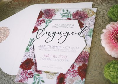 Floral Engagement Party Invites
