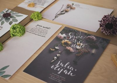 Julia & Elijah Foil Print Wedding Suite