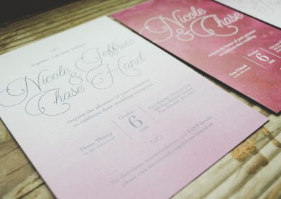 Nicole & Chase Watercolor Stacking Wedding Suite