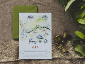 Fall Watercolor Wedding Suite Map