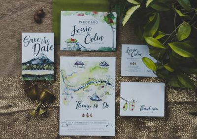 Fall Watercolor Wedding Suite