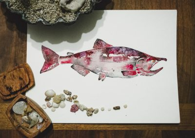 Chinook Salmon Watercolor
