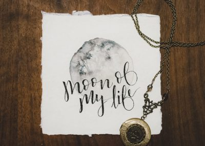 Moon of my Life Watercolor