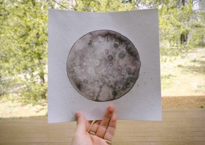 Watercolored moon