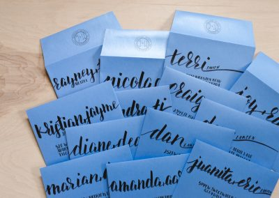 Hand Calligraphed Envelopes
