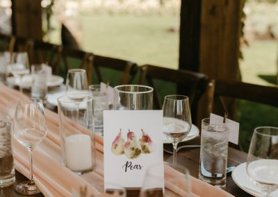 Watercolor Table Card