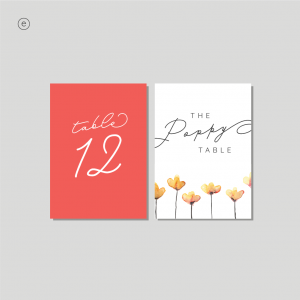 Selkie Stationery - Table Cards